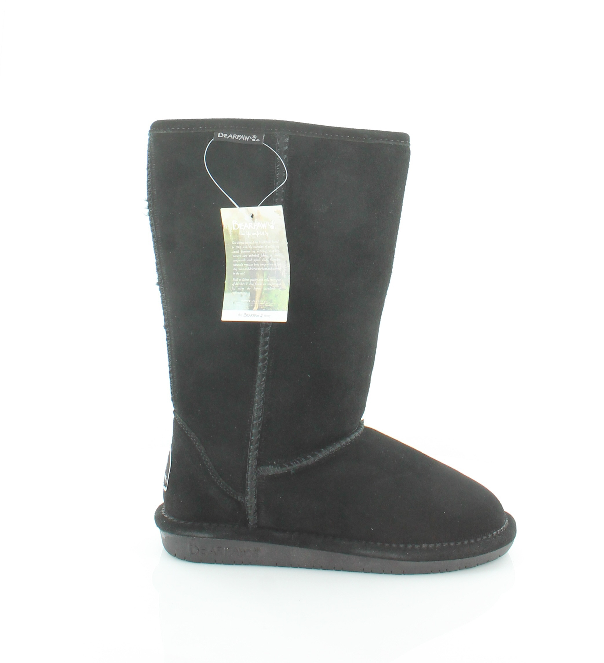 a85e8527f2df7 BEARPAW Emma Tall Womens Size 6 Black Suede Winter BOOTS UK 4 for ...