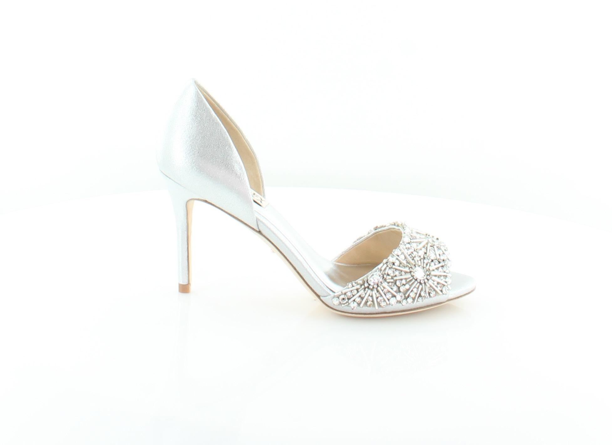 Badgley Mischka New Maria Silber damen schuhe Größe 6.5 M Heels MSRP  235