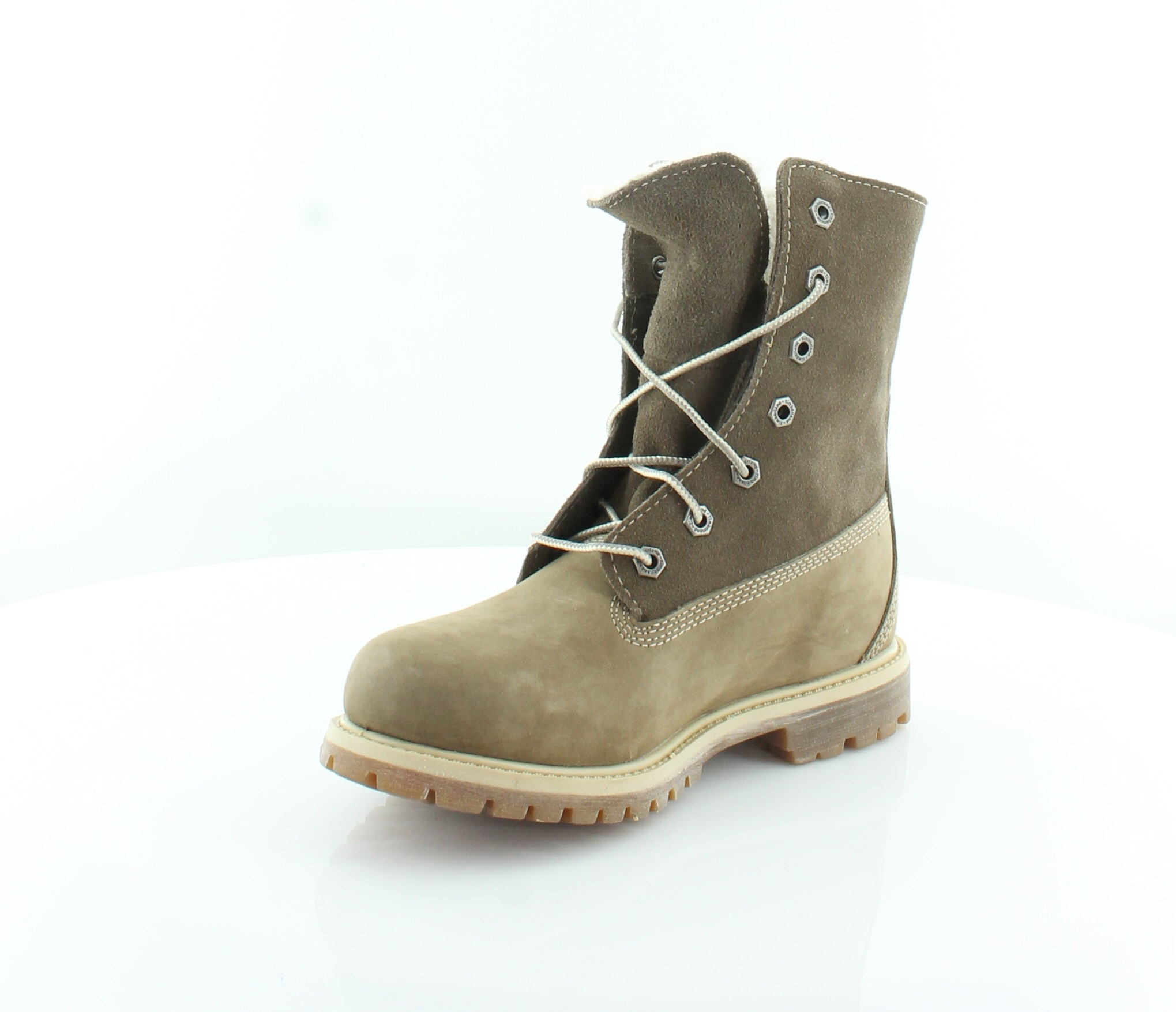 Timberland New Teddy Brown Womens Shoes Size 5.5 M Boots MSRP $165 1