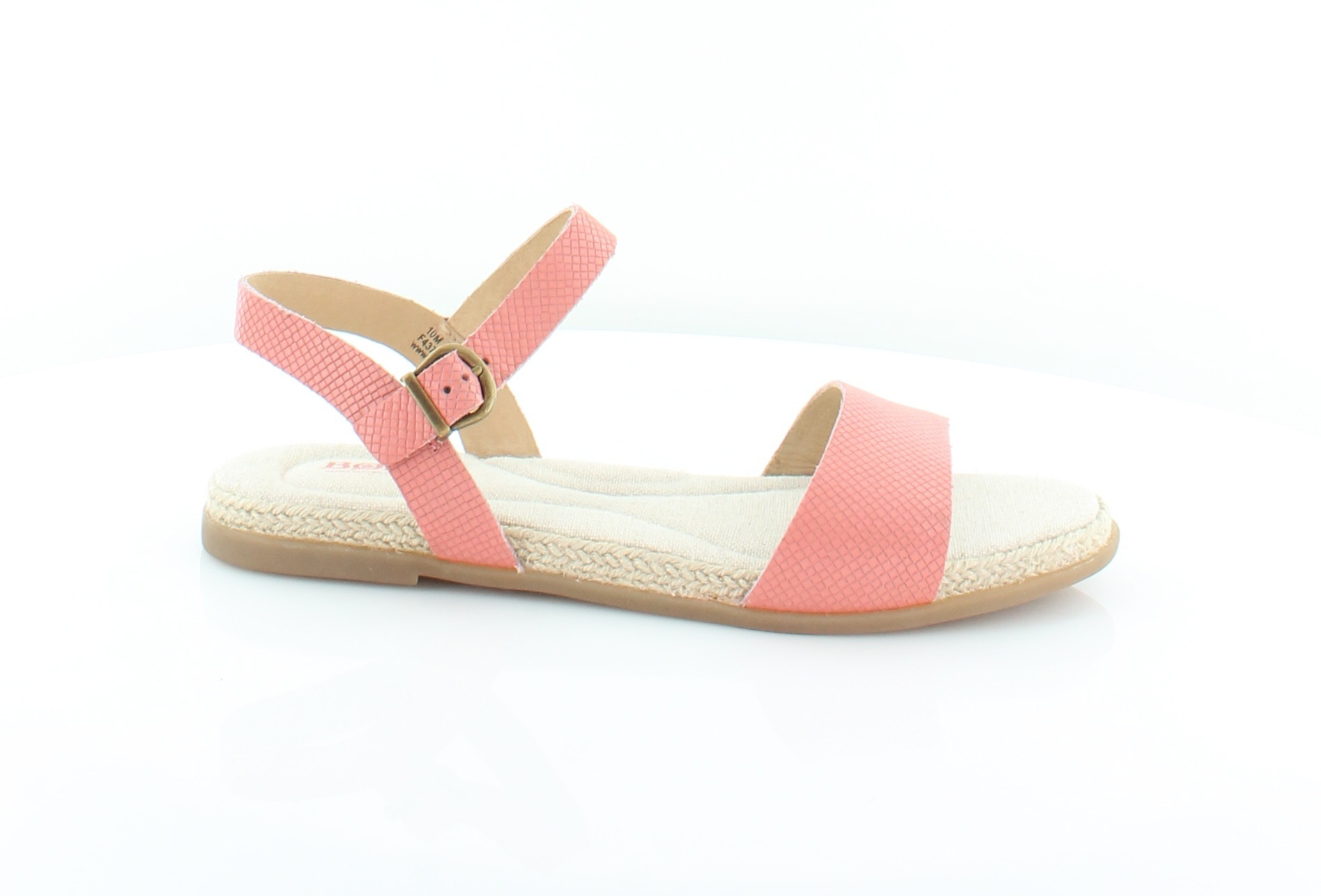 e74fb73aa93a Born Womens Welch Pink Leather Flat Sandals Shoes 10 Medium (b M ...