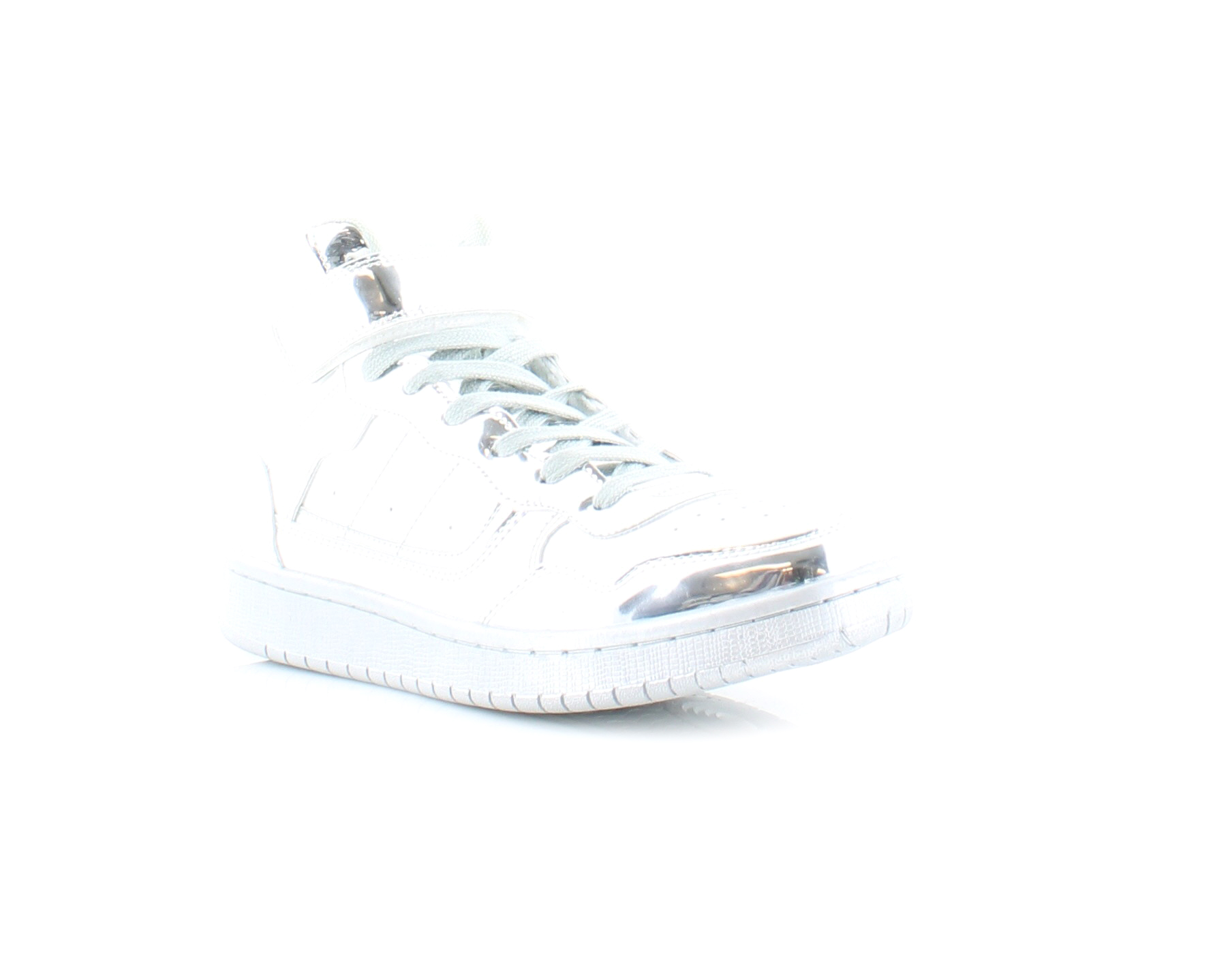 Madden Girl Slick Women's Fashion Sneakers Silver Size 10 M